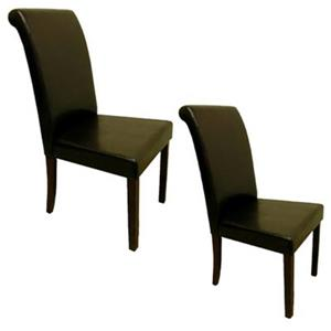 Warehouse of Tiffany 39-in x 18-in Brown Dining Chair (Set of 4)
