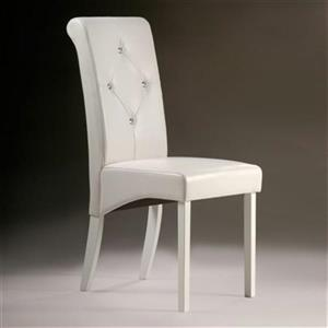 Warehouse of Tiffany 38-in x 17-in White Dining Chair (Set of 4)