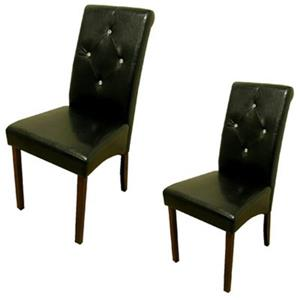 Warehouse of Tiffany 38-in x 17-in Black Dining Chair (Set of 2)