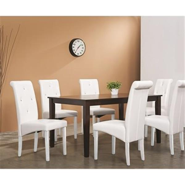 Warehouse of Tiffany Brown/White 5-Piece Dining Set