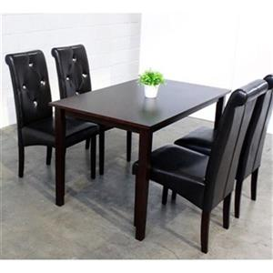 Warehouse of Tiffany Black 5-Piece Dining Set
