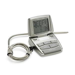 Bradley Smoker 8.5-in x 6.3-in Chrome Digital Thermometer