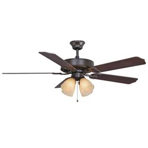 Fanimation Aire Décor Builder Series 52-in Oil Rubbed Bronze 4-Light Ceiling Fan