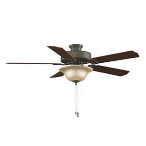 Fanimation Aire Décor 52-in Oil Rubbed Bronze 3-Light Builder Ceiling Fan