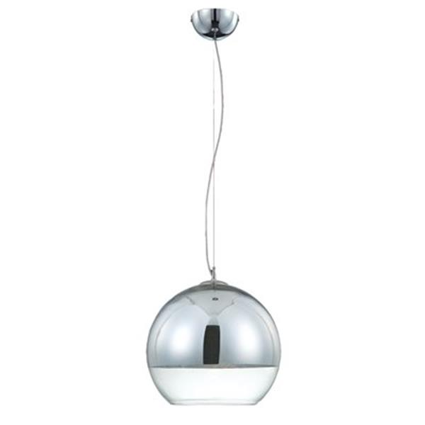Eurofase Chromos Collection 9.75-in x 9.75-in Chrome Globe Mini Pendant