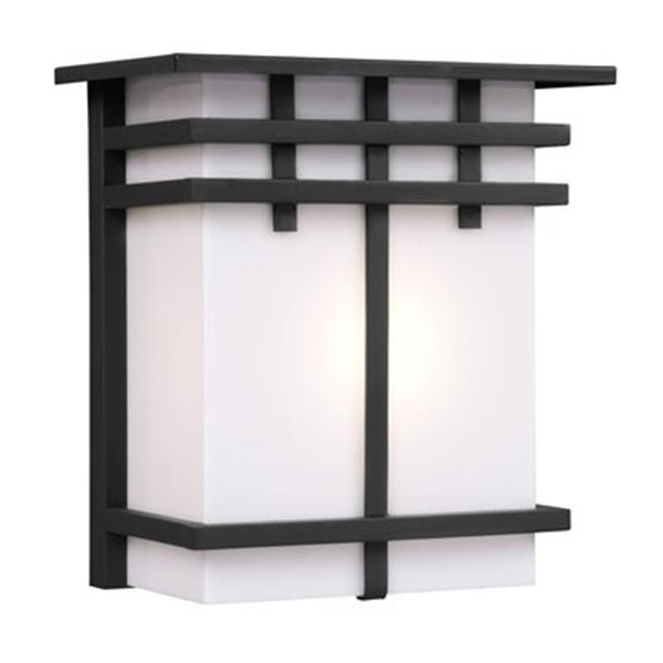 Galaxy Black with White Acrylic Lens Outdoor Sconce