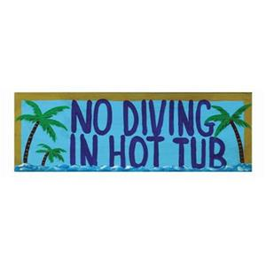 RAM Game Room 7-in No Diving in Hot Tub Outdoor Sign Wall Art