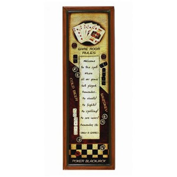RAM Game Room 32-in x 10-in Rules Sign