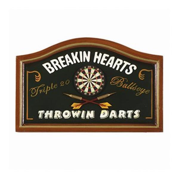 RAM Game Room 13-in x 20-in Breaking Hearts Throwing Darts Sign