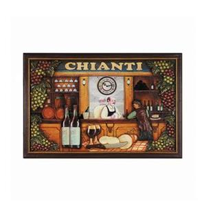 RAM Game Room Products 16-in x 24-in Chianti Framed Art Sign