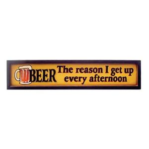 RAM Game Room Products 8-in x 35.50-in Beer Afternoon Framed Art Sign