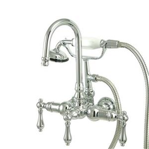 Elements of Design Hot Springs Chrome Vintage Clawfoot Tub and Shower Filler