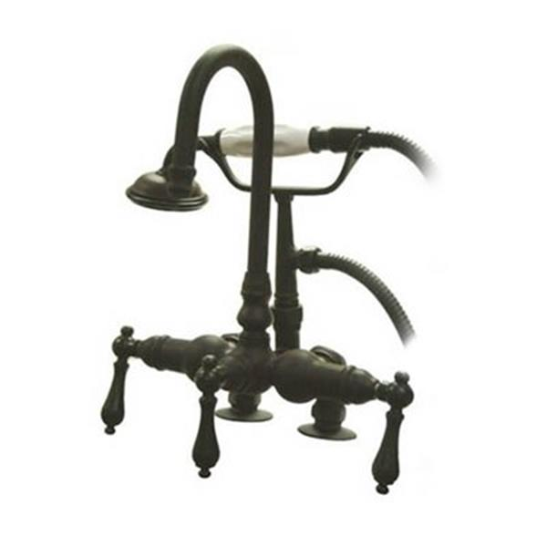 Elements of Design Hot Springs 10-in Oil rubbed Bronze Vintage Clawfoot Tub and Shower Filler