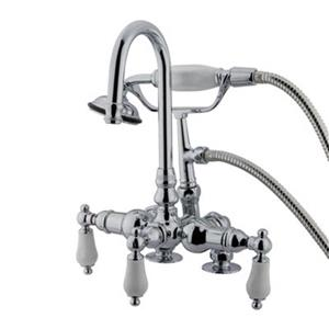 Elements of Design Hot Springs 10-in Chrome Vintage Clawfoot Tub and Shower Filler