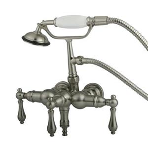 Elements of Design Hot Springs Satin Nickel Vintage Clawfoot Tub and Shower Filler