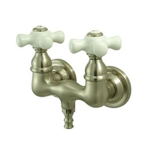 Elements of Design Hot Springs Satin Nickel Vintage TubWall Clawfoot Tub and Shower Filler