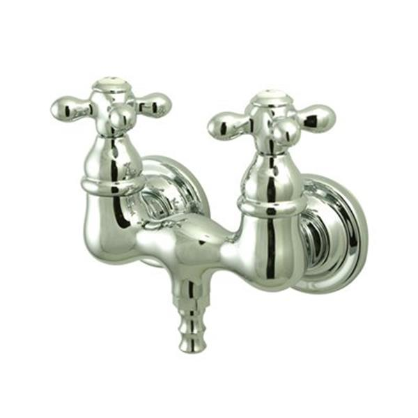 Elements of Design Hot Springs Chrome TubWall Clawfoot Tub and Shower Filler