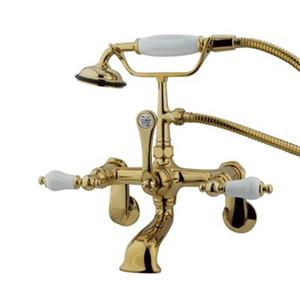 Elements of Design Hot Springs 13-in Polished Brass Clawfoot Tub and Shower Filler