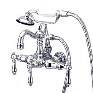 Elements of Design Hot Springs 10-in Chrome Clawfoot Tub and Shower Filler