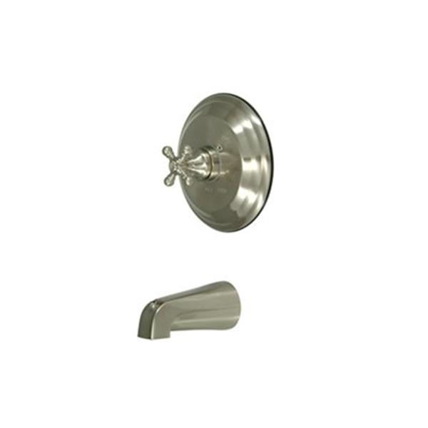 Elements of Design 7.50-in Satin Nickel New York Single Handle Tub Spout