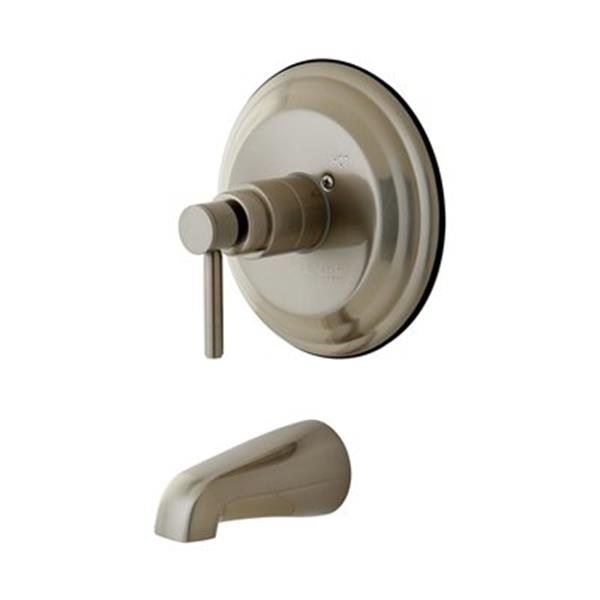 Elements of Design 7.50-in Satin Nickel  Single Handle Tub Only