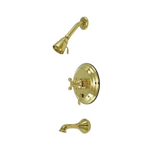 Elements of Design New Orleans Polished Brass Pressure Balance Tub Faucet Shower System
