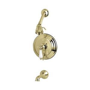 Elements of Design New Orleans Polished Brass Pressure Balanced Tub Faucet Shower System