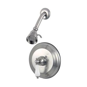 Elements of Design St. Louis Satin Nickel Pressure Balanced Tub Faucet Shower System