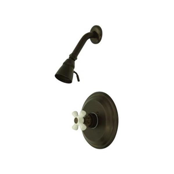 Elements of Design St. Louis Oil-Rubbed Bronze Pressure Balanced Tub Faucet Shower System