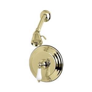 Elements of Design St. Louis Polished Brass Pressure Balanced Tub Faucet Shower System