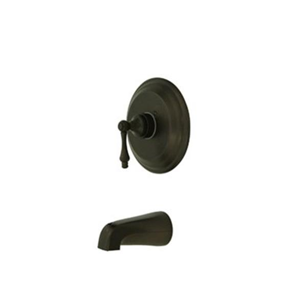 Elements of Design 7.50-in Oil Rubbed Bronze St Loius Shower Faucet Pressure Balanced Tub Spout System