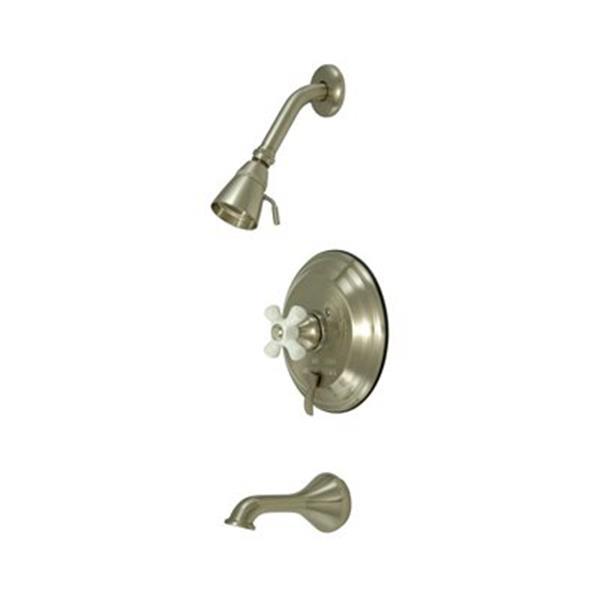 Elements of Design New Orleans Satin Nickel Pressure Balanced Tub Faucet Shower System