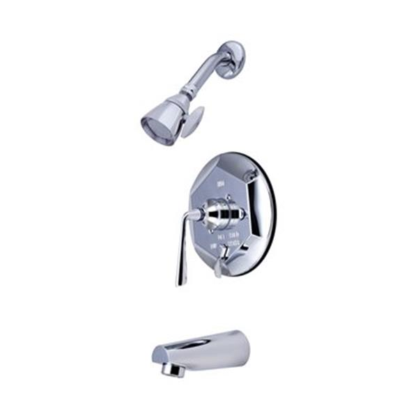 Elements of Design Copenhagen Polished Chrome Single Handle Tub & Shower Faucet