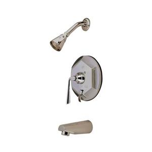 Elements of Design Copenhagen Satin Nickel Single Handle Tub & Shower Faucet