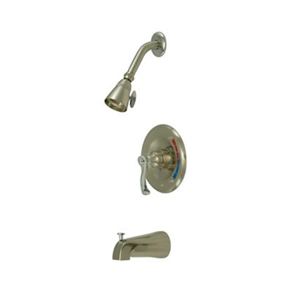 Elements of Design Satin Nickel/Chrome Pressure Balanced Tub/Shower System