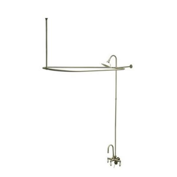 Elements of Design Vintage Satin Nickel Package Clawfoot Tub and Shower Filler