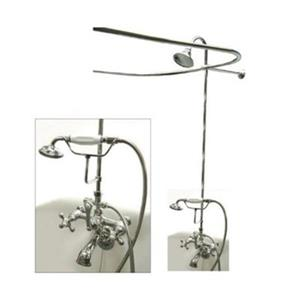 Elements of Design Vintage Chrome Package Clawfoot Tub and Shower Filler