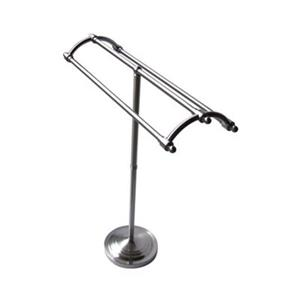 Elements of Design Vintage Satin Nickel Free-Standing Pedestal Round Plate Rack Towel Bar