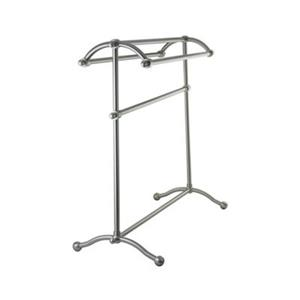 Elements of Design Vintage 29.5-in Satin Nickel Free-Standing Pedestal Rack Towel Bar
