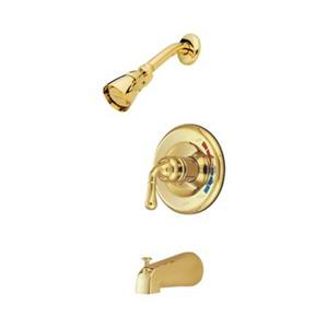 Elements of Design Magellan Polished Brass Pressure Balanced Shower System with Tub Spout