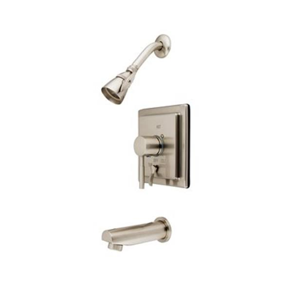 Elements of Design Concord Satin Nickel Tub Faucet Shower System