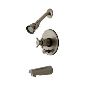 Elements of Design NuVoFusion Satin Nickel Single Handle Tub & Shower Set