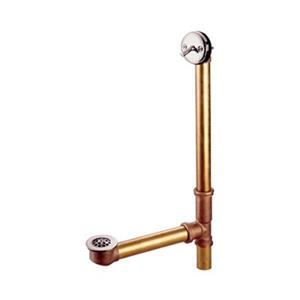 Elements of Design 25.5-in Brass Satin Nickle With Trip Lever and Waste Overflow Bathtub Part
