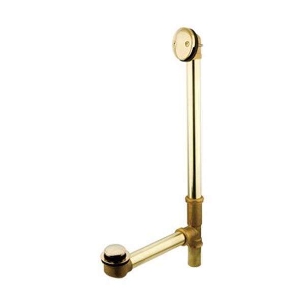 Elements of Design 20-in Brass Polished Brass Waste Overflow Bathtub Part