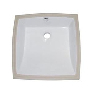 Elements of Design Cove 17.25-in x 17.25-in White Under Mount Square Bathroom Sink