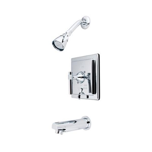 Elements of Design Manhattan Polished Chrome Tub Faucet Shower System