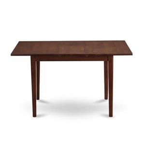 East West Furniture Norfolk 42-in x 31.5-in x 29-in Mahogany Dining Table with 11.5-in Leaf