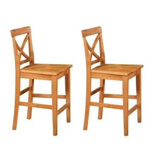 East West Furniture 24-in X-Back Pub Stool (Set of 2)
