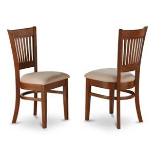 East West Furniture Vancouver 37-in x 17-in Brown Dining Chair (Set of 2)