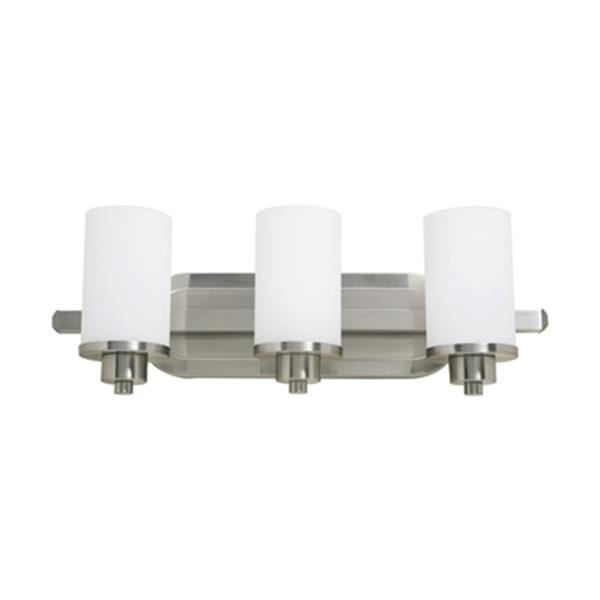 Artcraft Lighting Parkdale Polished Nickel 3-Light Bathroom Vanity Light